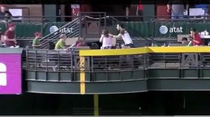 Lady Gets Hit In The Face With Home-Run Baseball While Her Boyfriend Runs From The Ball