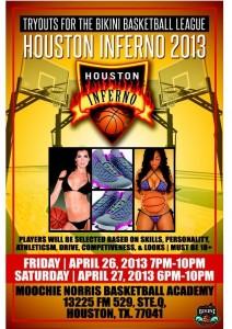 Houston inferno Bikini Basketball try outs