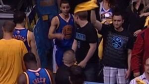 steph curry tries to fight fan