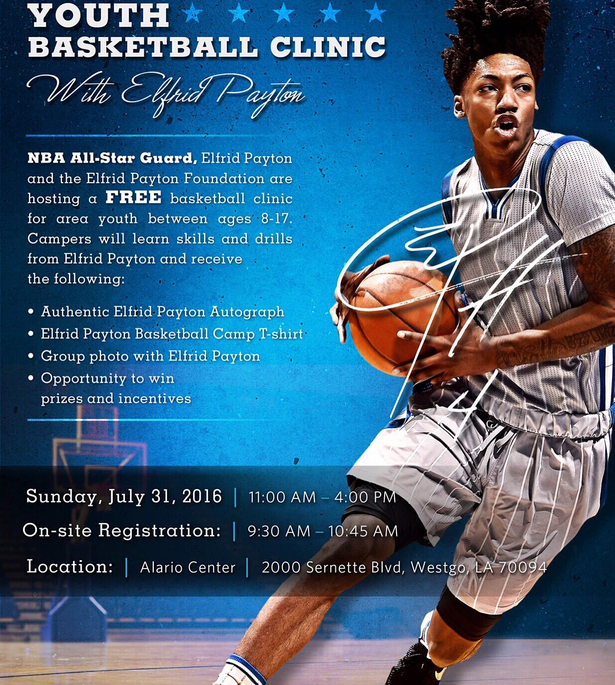 Elfrid Payton Free Youth Camp In New Orleans